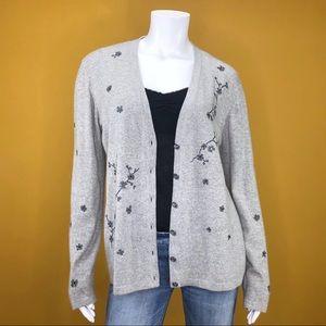 ESCADA Wool, Cashmere and Silk Blend Gray Cardigan